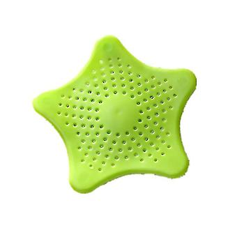 1pc Sewer Outfall Strainer - Anti Blocking, Floor Drain, Sink Filter(Green)