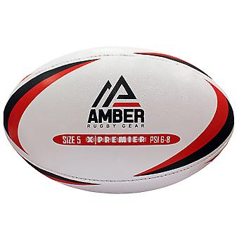 Amber Premium Sports Match League Rugby Ball Taglia 4