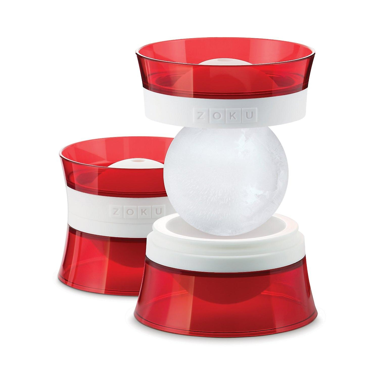 ZOKU Ice Ball Mold - 6,4 cm stapelbar Eis Kugel Hersteller - Eis Spheres - Packung mit 2