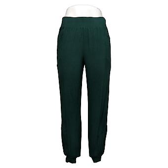 AnyBody Women's Pants Cozy Knit Seamed with Rib Detail Green A384620