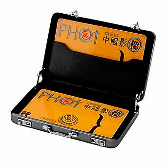 Cool Aluminum Password Briefcase Business Card Credit Card Holder Case Box