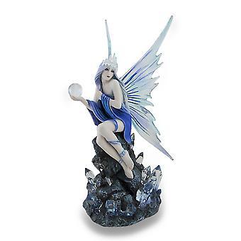 Anne Stokes Blue and Purple Stargazer Fairy Statue