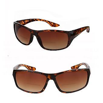 """""""The Driver"""" 2 Pair of Bifocal Sunglasses Featuring High Definition Driving Lenses for Men and Women - Tortoise/Tortoise - 1.25"""