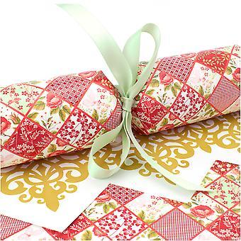 10 große rote Blumen Patchwork Cracker - Machen und füllen Sie Ihr eigenes Kit ohne Bänder