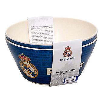 Set of bowls Real Madrid C.F. Bamboo (2 pcs)