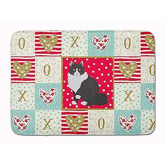 Bath mats rugs siberian forest cat love machine washable memory foam mat
