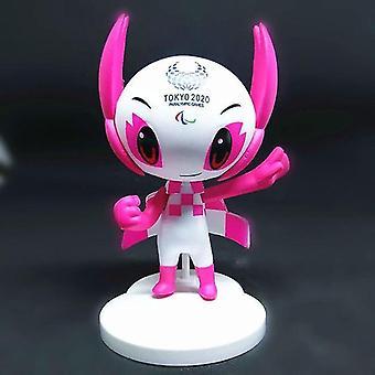 Wooden blocks pink tokyo 2020 olympics mascot figure miraitowa someity