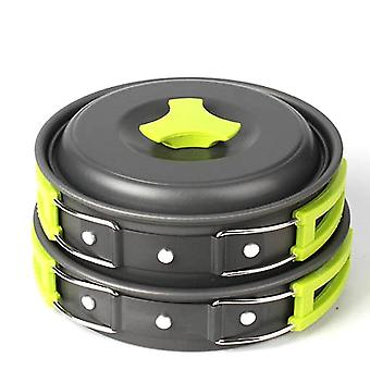Portable cooking stoves 6pcs/set portable 2-3 persons cookware bowl pot spoon for outdoor camping hiking backpacking travel