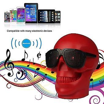 Signal boosters mini skull head shape wireless bluetooth speaker bass phone computer speaker