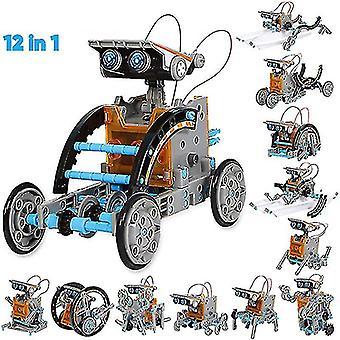 Bricolage Assemblé Jouet 12-en-1 Auto-installé Voiture jouet solaire 12-en-1 Robot intelligent