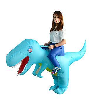 Adult Lake Blue Big-headed Dinosaur (150-200cm) Yutube Same Dinosaur Inflatable Costume Halloween Costume