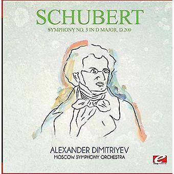 Schubert - Sinfonia no. 3 em D Major D.200 [CD] EUA importar