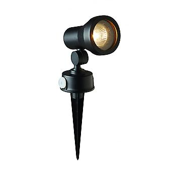 LED Robus Cork GU10 Black Garden Spike Light