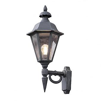 Konstsmide Pallas viktorianske svart veranda lanterne