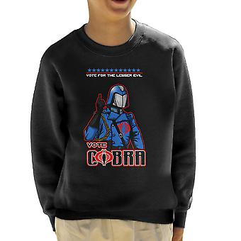 GI Joe stemming Cobra commandant mindere kwaad Kid's Sweatshirt