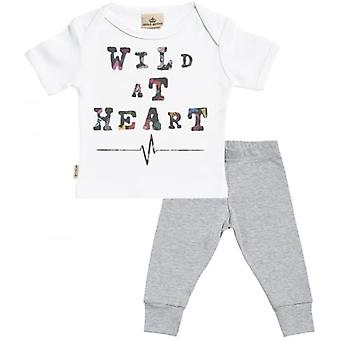 Spoilt Rotten Wild At Heart Baby T-Shirt & Baby Jersey Trousers Outfit Set