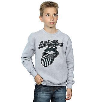 Rolling Stones Boys Monochrome American Tongue Sweatshirt