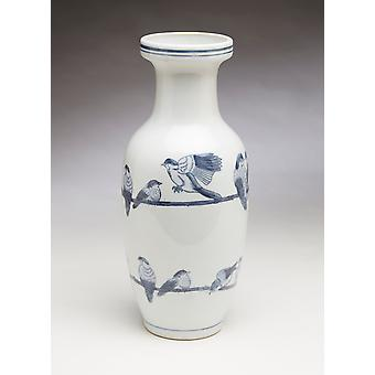 AA Importing 59839 Blue And White Vase