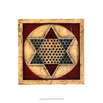Small Antique Chinese Checkers Poster Print by Ethan Harper (13 x 19)