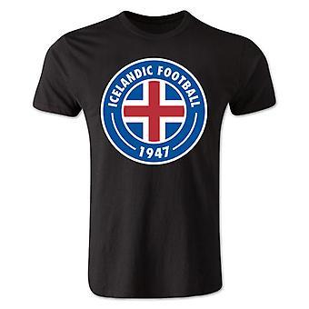 أيسلندا الأساسية شعار تي شيرت (أسود)