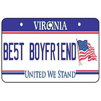 Virginie - meilleur copain plaque d'immatriculation voiture assainisseur d'Air