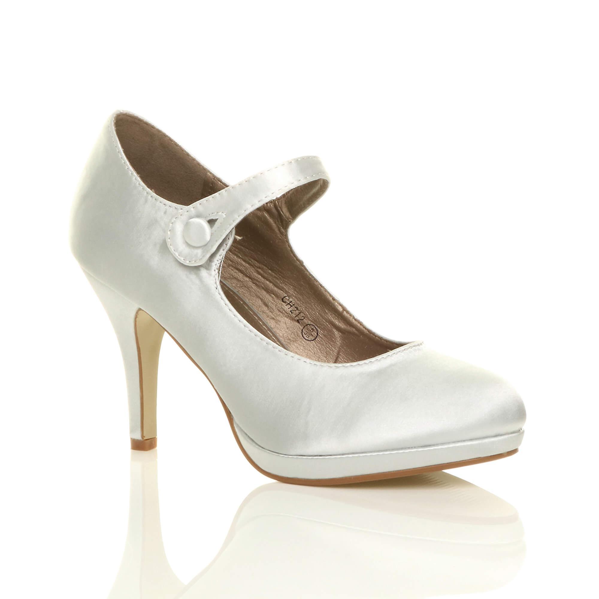 Женские Ajvani середине высокий каблук Мэри Джейн, работа платформы суд обувь