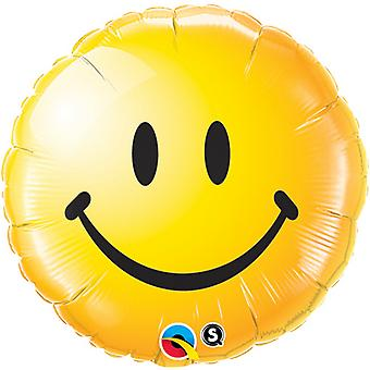 QUALATEX 18inch Smiley Face ronde papier bulle
