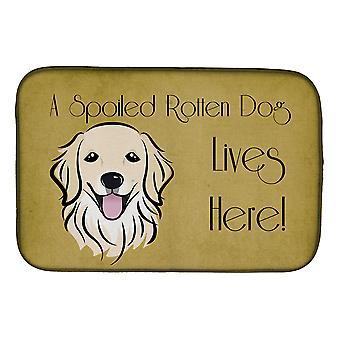 Kultainennoutaja pilaantunut koiran elämää täällä lautasen kuivaus Mat