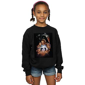 Star Wars Girls Episode III Movie Poster Sweatshirt