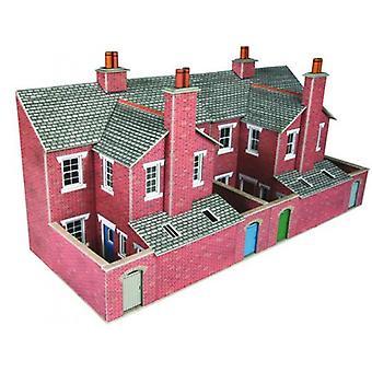 Metcalfe Po276 00/H0 lavt Relief røde mursten Terraced House Bakker