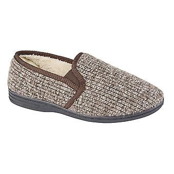 Zedzzz Mens Keith Fluffy Classic Slippers
