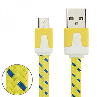 3m USB data and charging cable yellow for all Smartphone and Tablet micro USB