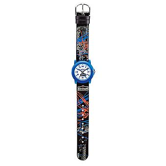 Scout kind horloge leren Crystal - auto jongens horloge 280305024
