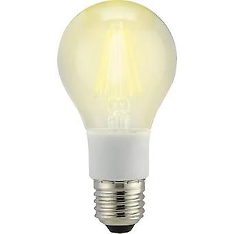 Sygonix LED EEC A++ (A++ - E) E27 Arbitrary 7 W = 60 W Warm white (Ø x L) 60 mm x 114 mm Filament, dimmable 1 pc(s)