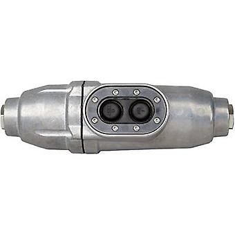 Kopp 1977.0101.2 en línea interruptor aluminio + PRCD-S 230 V aluminio IP66