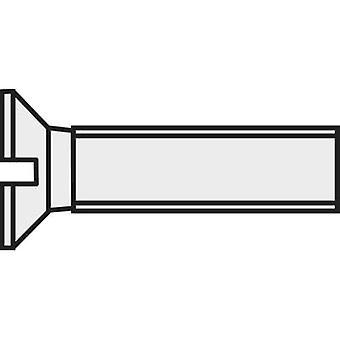 TOOLCRAFT 839954 Countersunk screws M3 16 mm Slot DIN 963 Plastic, Polyamide 10 pc(s)
