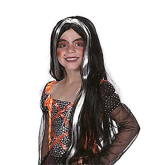 Child witch wig long hair Centre parting accessory Carnival Halloween witch