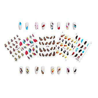 Mixed Styles 3D Nail Art Stickers Decals 50 sheets