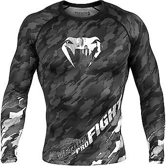 Venum Tecmo manica lunga MMA compressione Rashguard - grigio scuro