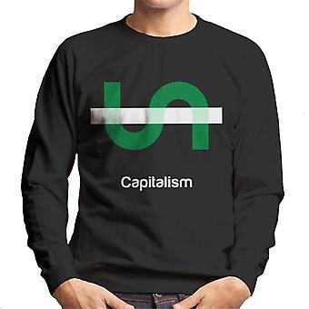資本主義哲学記号メンズスウェットシャツ