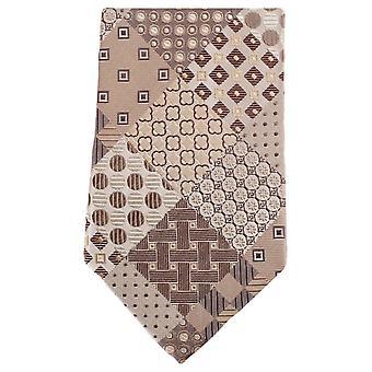 Knightsbridge Neckwear Multi Pattern Circle Tie - Beige