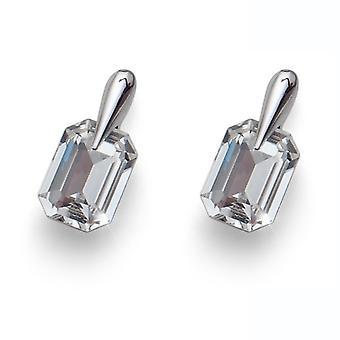 Oliver Weber Post Earring Club Rhodium Crystal