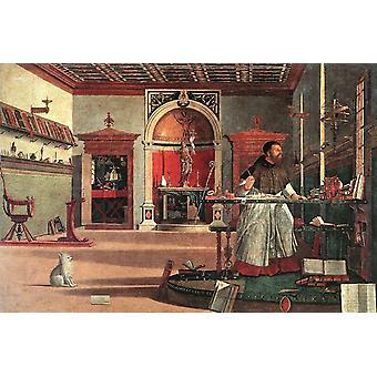 Saint Augustin dans son étude, Vittore Carpaccio, 60x40cm