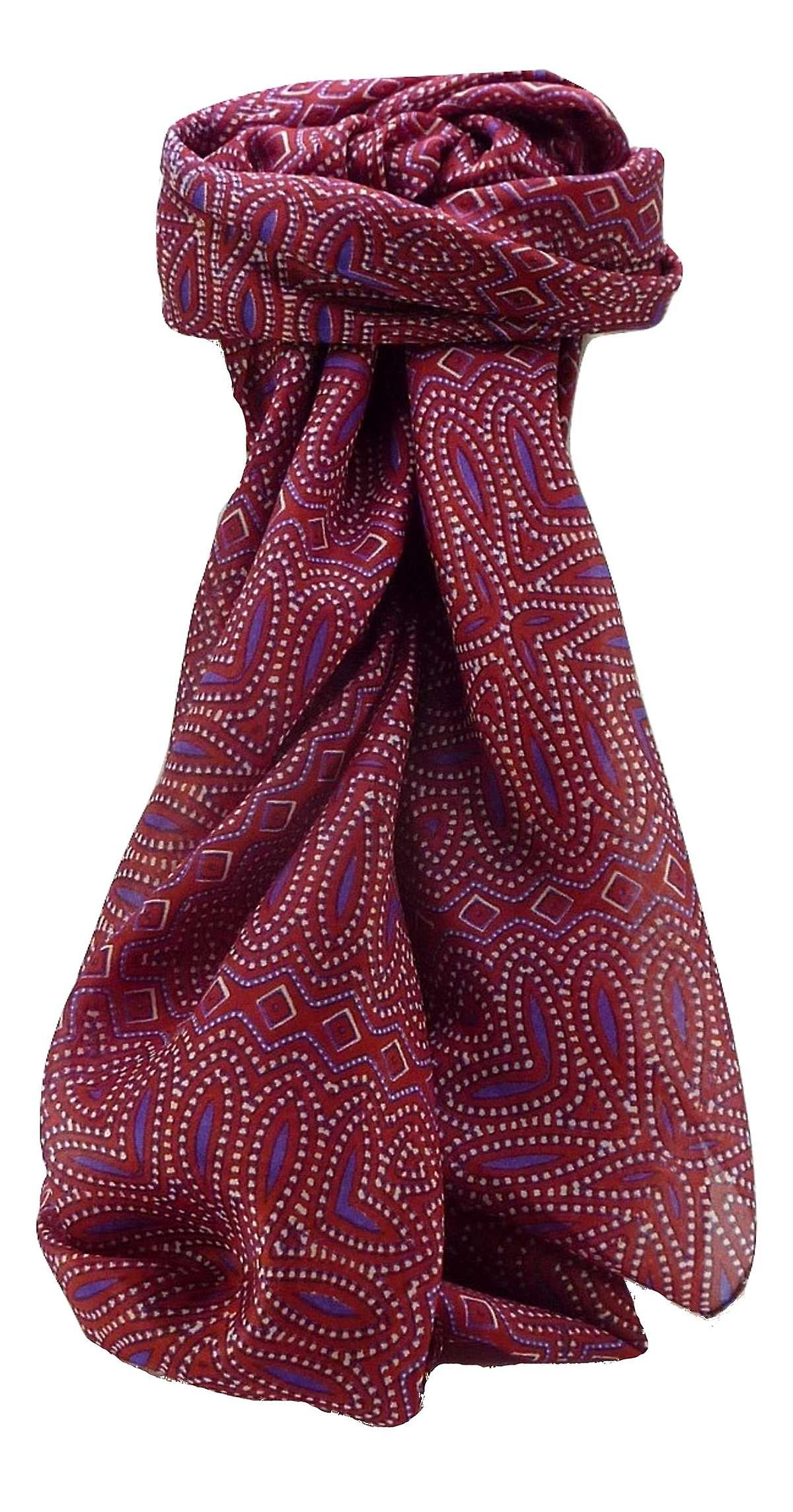 Mulberry Silk Contemporary Square Scarf Geometric G109 by Pashmina & Silk