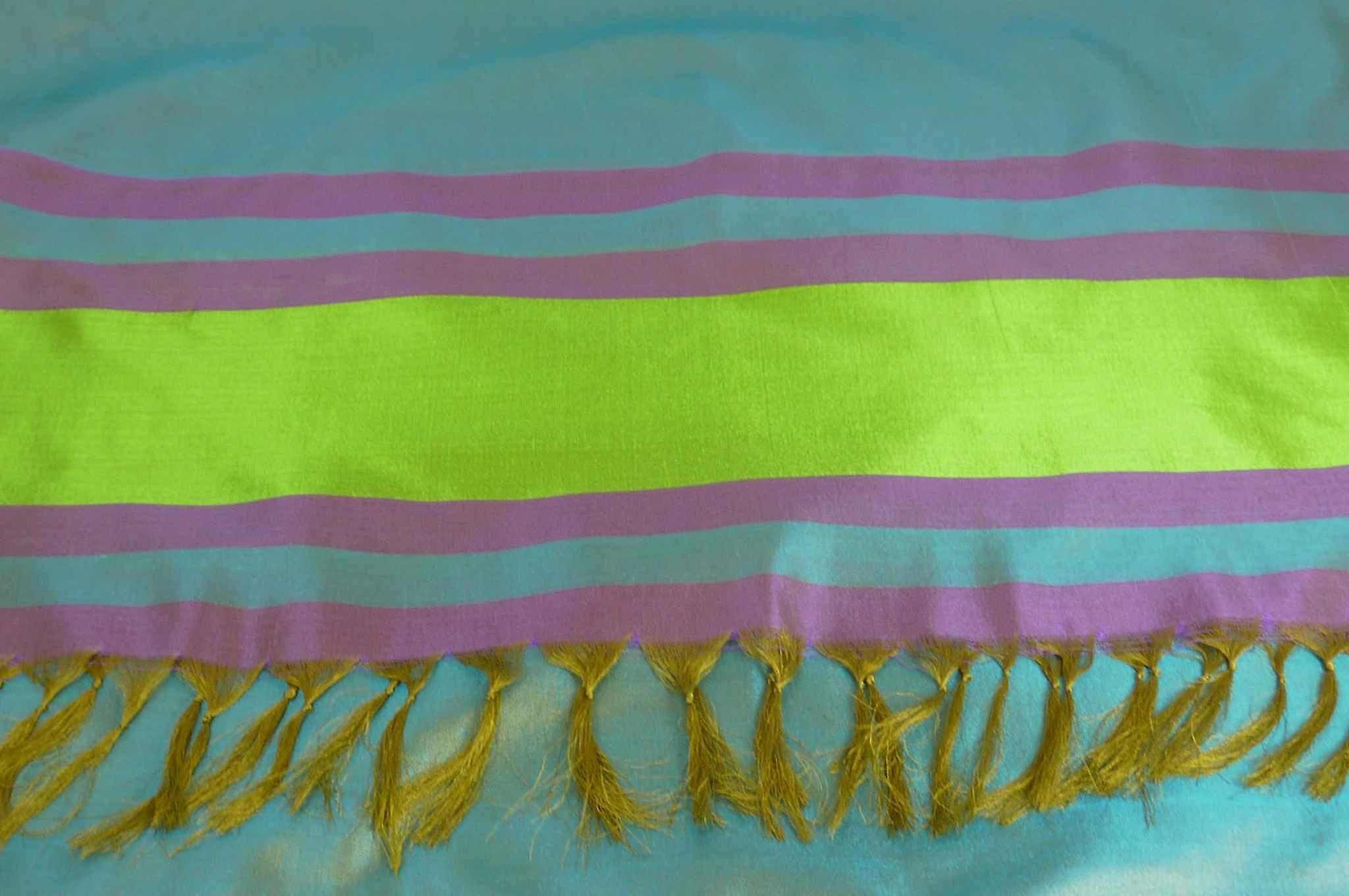 Varanasi Border Prime Silk Long Scarf Heritage Rampersan 413 by Pashmina & Silk