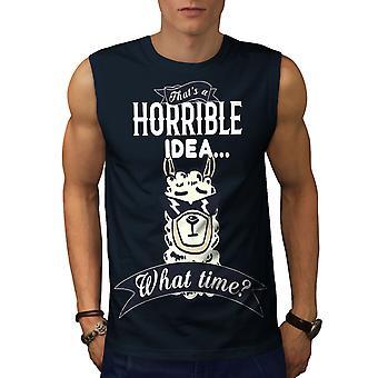Horrible Idea hombres NavySleeveless camiseta | Wellcoda