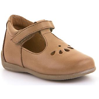 Froddo Girls G2140037-10 T-bar Shoes Cognac