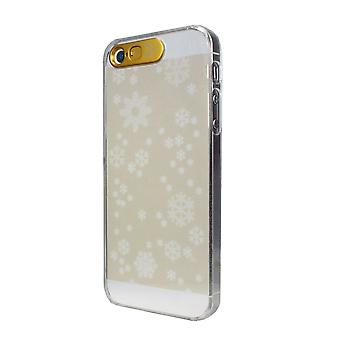 VanD Clear Flashing Case for Apple iPhone 5 / 5S / 5SE - Gold Snow