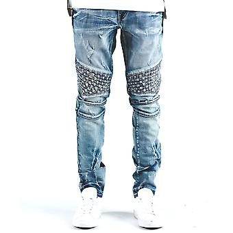 Embellish Turkish Biker Denim Jean Blue