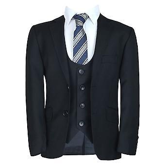 लड़कों औपचारिक काले सूट सेट